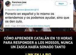 Enlace a Cómo aprender catalán en 10 horas para responder a los mossos, por @Julia_sp53