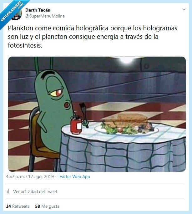 bob esponja,comida,luz,plancton