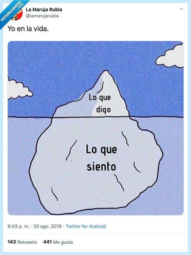 decir,iceberg,sentir