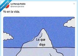 Enlace a El iceberg me representa, por @lamarujarubia