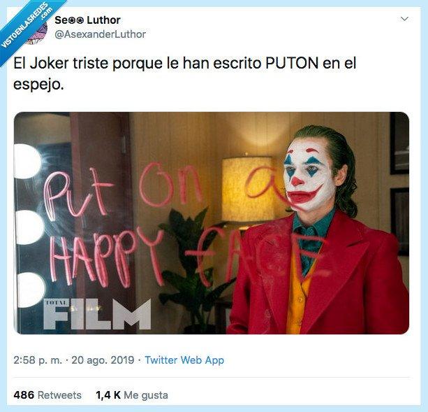 espejo,joker,mensaje,triste