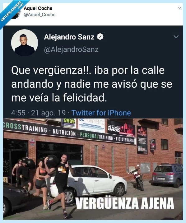 alejandro sanz,twitter,vergüenza ajena