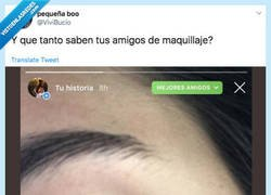 Enlace a Cuando tu amigo quiere complacerte pero no tiene ni puta idea de maquillaje, por @ViviBucio