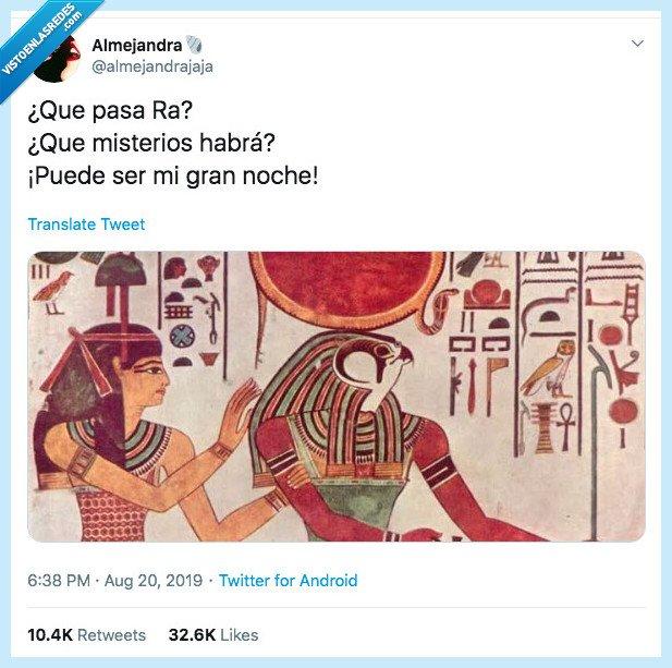 525142 - ¿Qué fue antes Raphael o los egipcios?, por @almejandrajaja