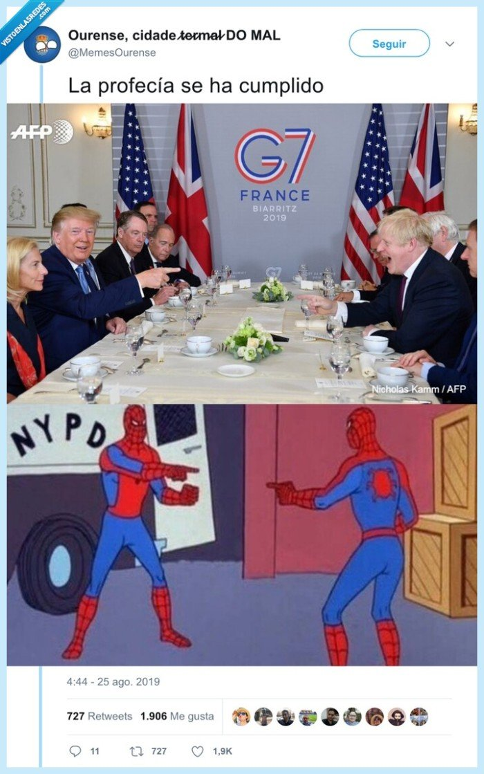 cumbre,spiderman,trump