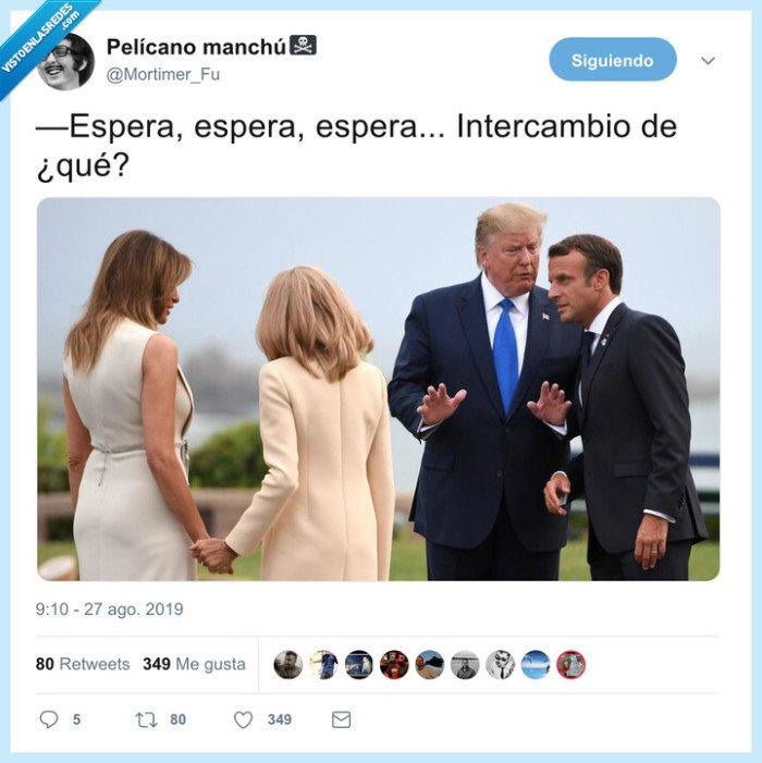 donald trump,intercambio,parejas