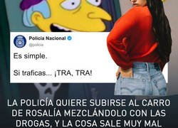 Enlace a La policía quiere subirse al carro de Rosalía mezclándolo con las drogas, y la cosa sale muy mal