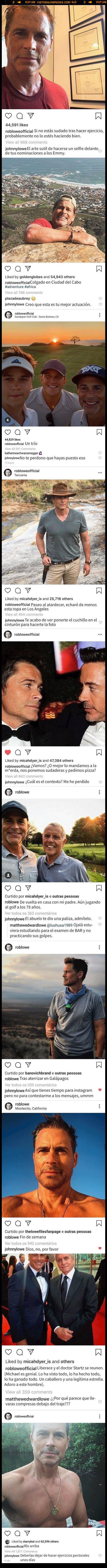 525748 - Los hijos de Rob Lowe se dedican a trollearle las fotos de Instagram y no podemos parar de leerles
