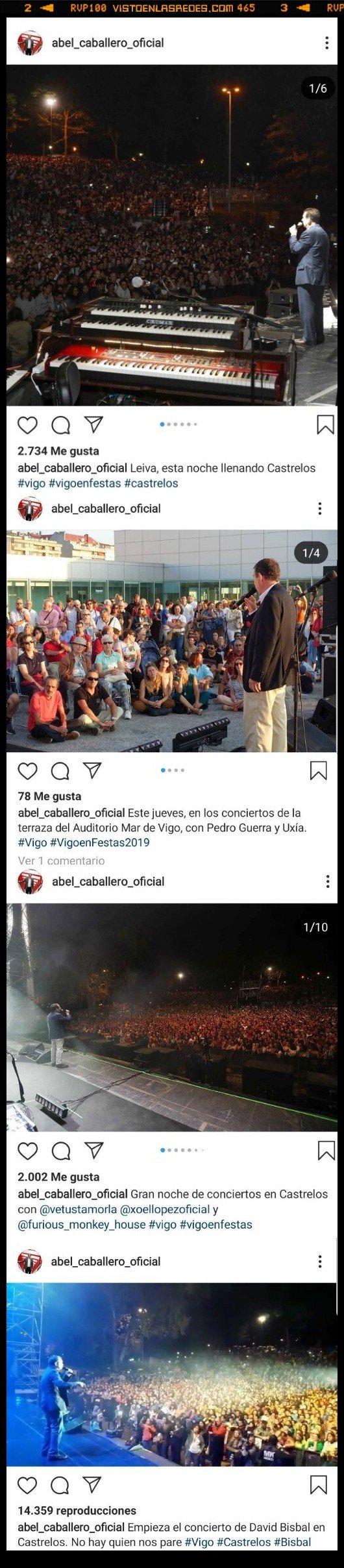 525780 - Nos declaramos totalmente fans de este alcalde que sube fotos de actos con artistas... en las que solo sale él