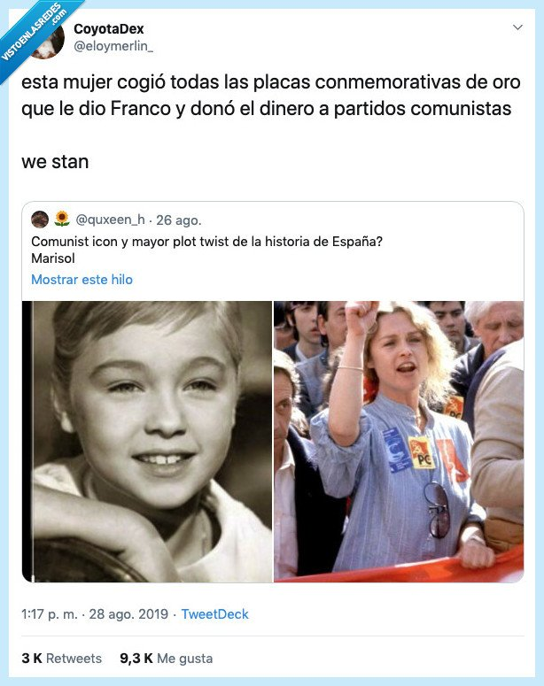 comunismo,comunista,franco,franquismo,marisol,placa