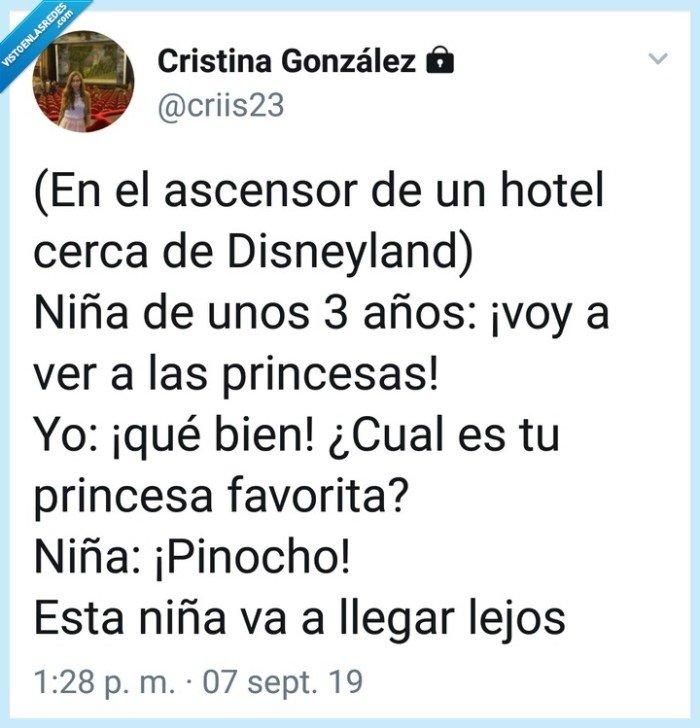 Disney,niña,Pinocho,princesas