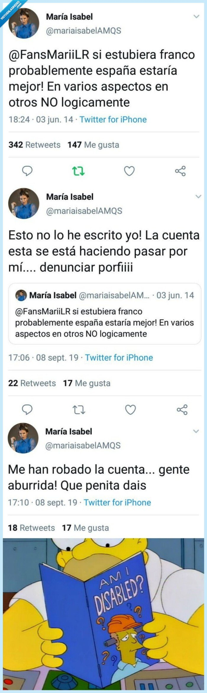 franco,ignorancia,maria isabel,robos