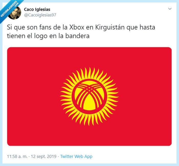 bandera,kirguistan,logo,xbox
