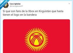 Enlace a El creador de la bandera de Kirguistán es muy friki, por @Cacoiglesias97