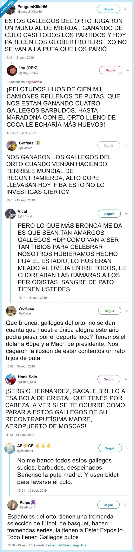 argentinos,baloncesto,cracks,insultos,mundial
