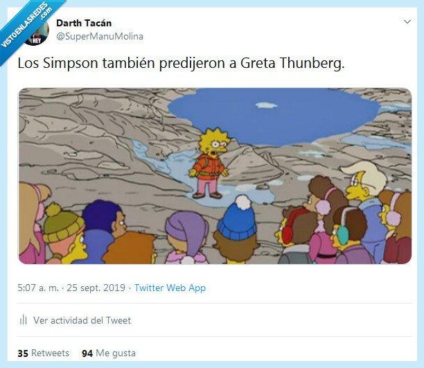 cambio climático,greta thunberg,los simpson