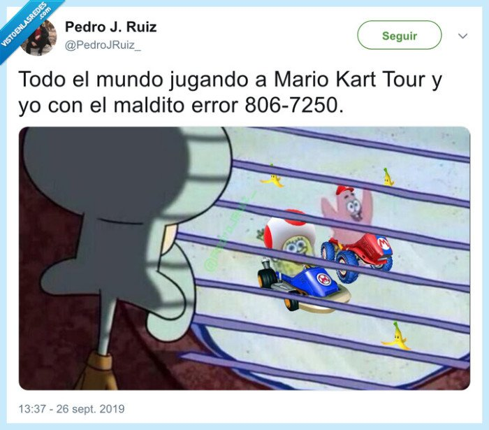 Bob,Bros,calamardo,error,Esponja,Kart,karts,Mario,MarioBros,MarioKartTour,meme,Patricio,Pedrojruiz,Toad,Tour