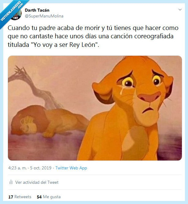 canción,morir,padre,rey león
