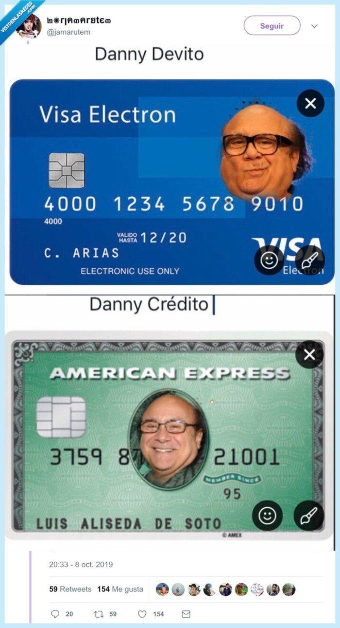 crédito,danny de vito,débito,tarjetas