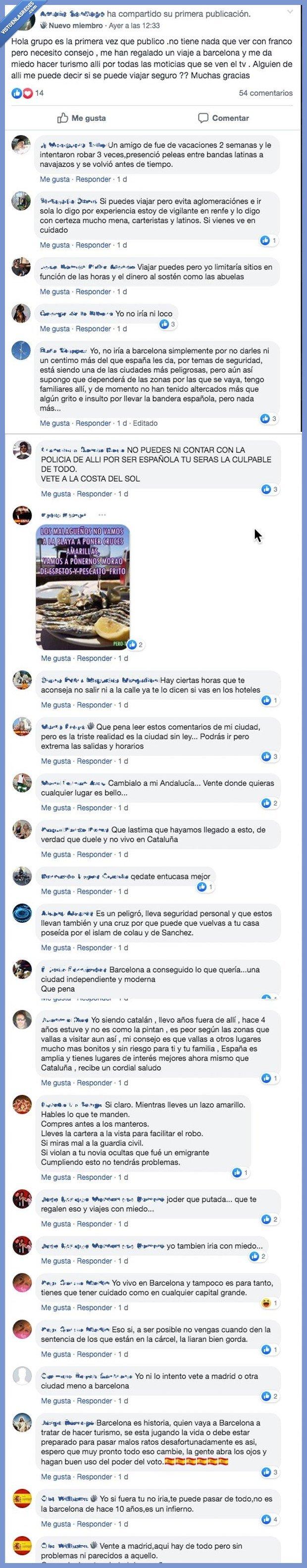 barcelona,fb,franquistas,grupo