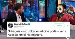 Enlace a Gabriel Rufián compara a Santiago Abascal con el Joker y pilla por todos lados