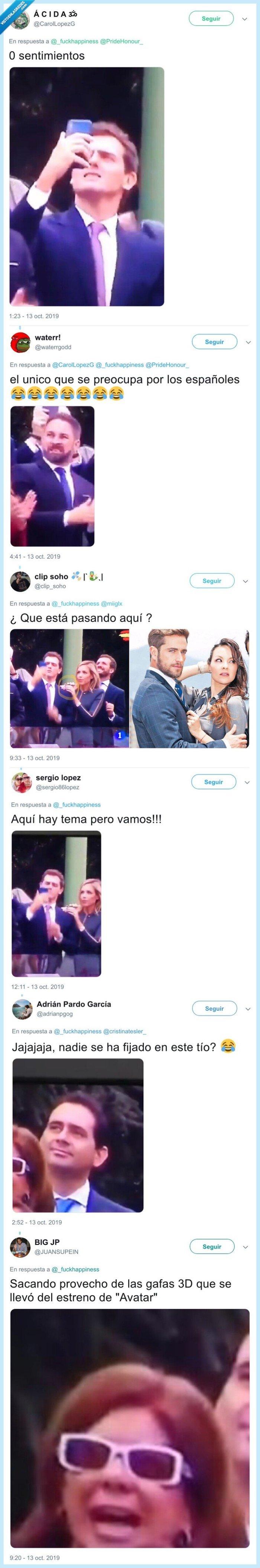 529278 - Cachondeo con el vídeo de Abascal, Rivera y Casado reaccionando al accidente del paracaidista
