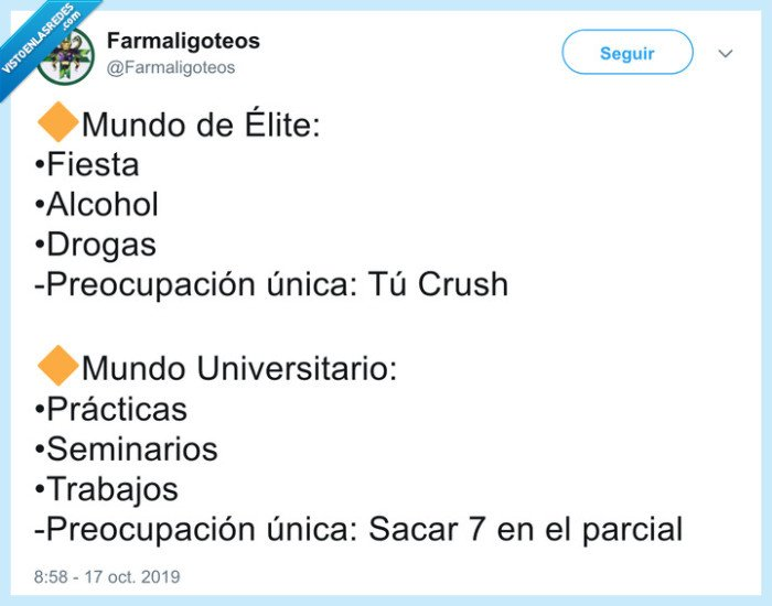 Élite,estudiar,mentira,universidad