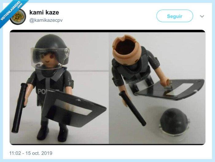 cabeza,hueca,playmobil,policía