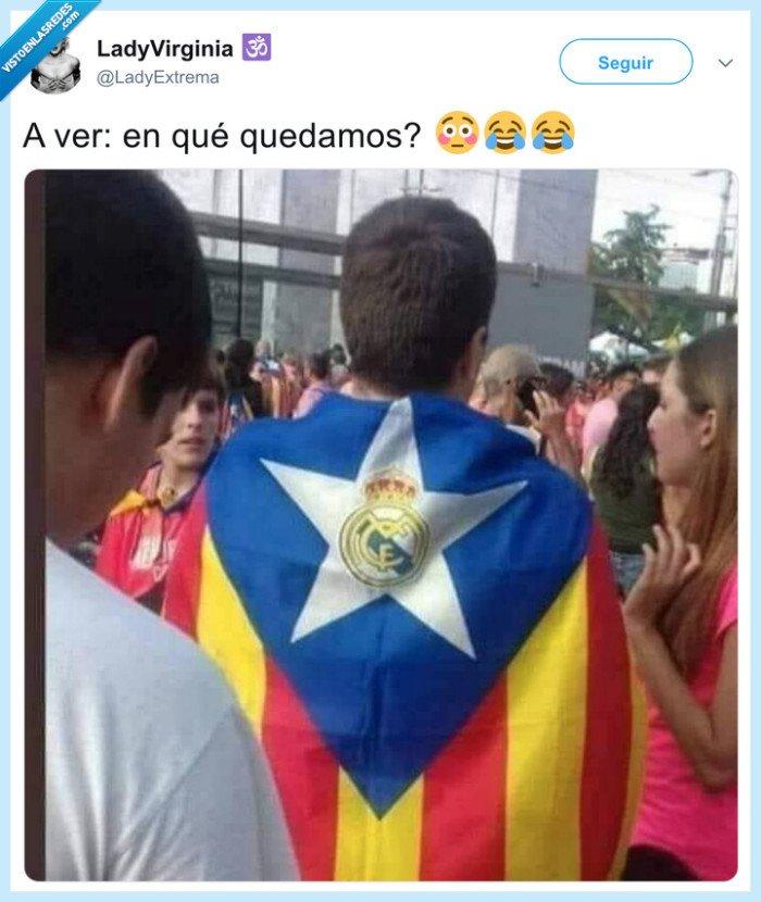 bandera,estelada,independentista,real madrid