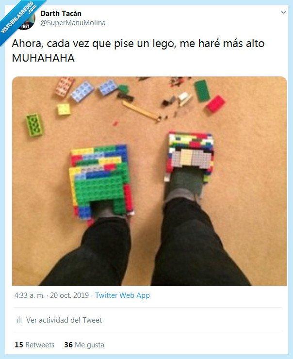 alto,lego,pie,pisar,zapato