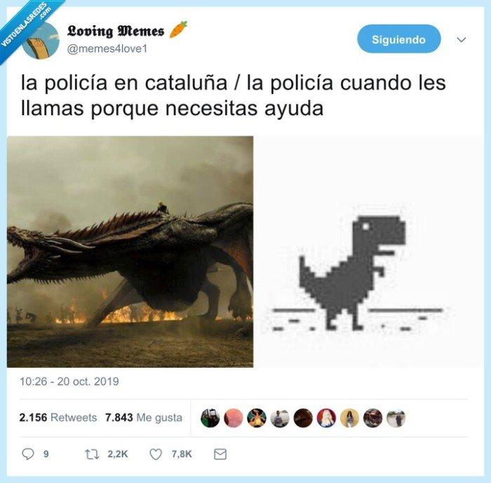 barcelona,catalunya,diferencias,dinosaurio,policía