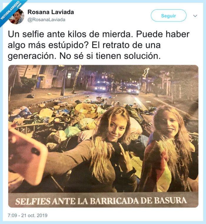 barcelona,basura,manifestación,selfie