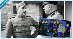Enlace a Dos vídeos que demuestran que los Simpson ya predijeron la exhumación de Franco #exhumacionFranco