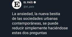 Enlace a El País jugando con los sentimientos de toda la gente con ansiedad, por @Niobeacua