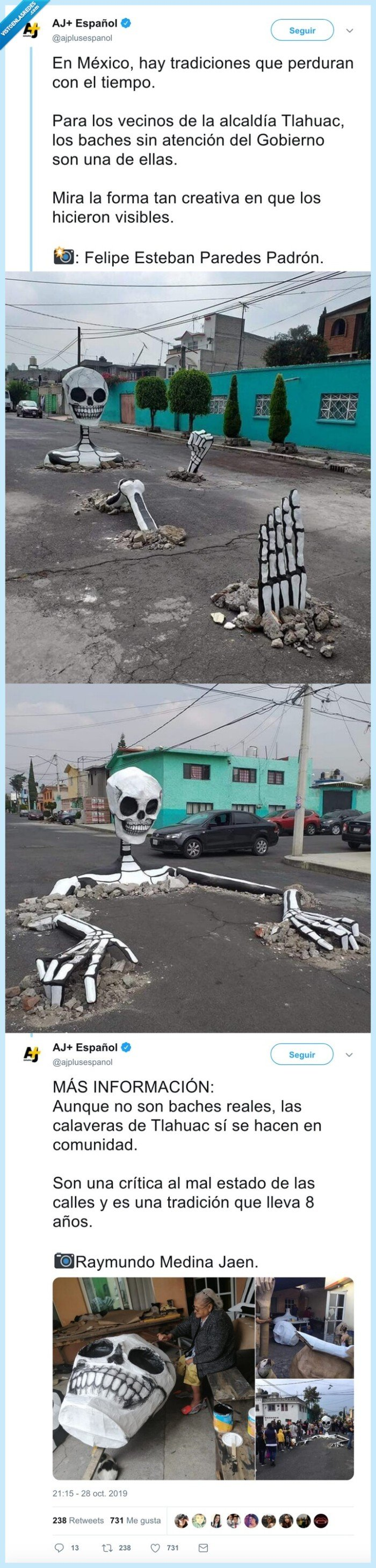 calaveras,carretera,mal estado,mexico