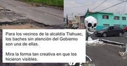 Enlace a La forma que tienen en México de llamar la atención del Gobierno con las carreteras que tienen desatendidas en mal estado
