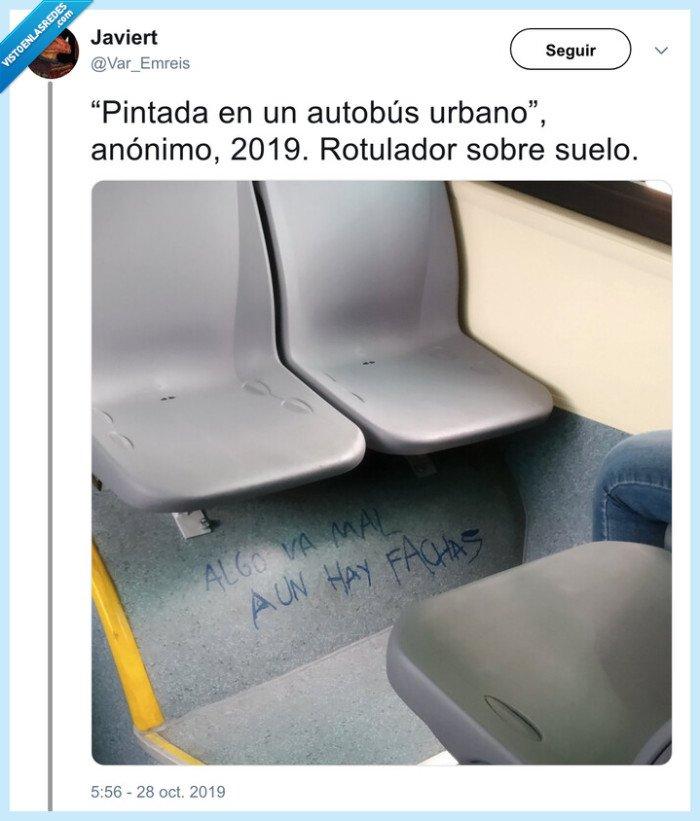 arte,autobús,pintada