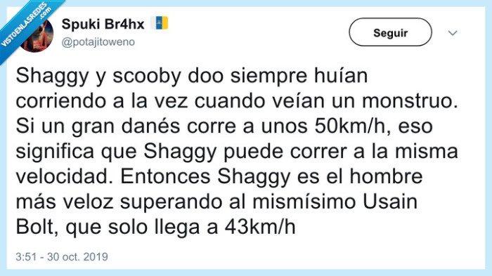 scooby doo,shaggy,usain bolt,velocidad