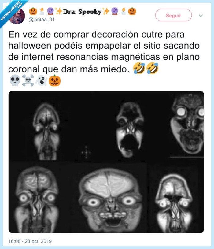 halloween,plano coronal,radiografía