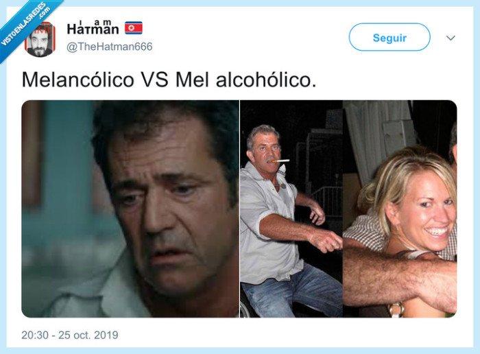 mel alcohólico,mel gibson,melancólico