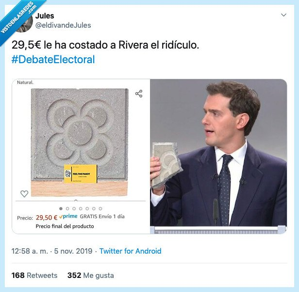 adoquin,albert rivera,amazon,barcelona,comprar,debate,panot,suelo