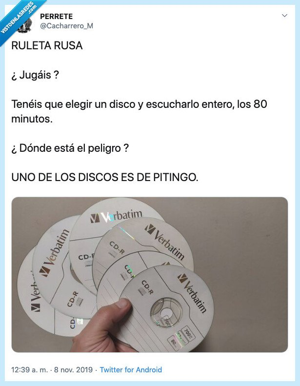 cd,disco,oir,pitingo,ruleta,rusa
