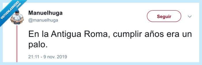 antigua roma,cumplir años,palos,roma