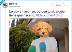 Enlace a Chenoa, Rivera y el perro, por @cometelasopa