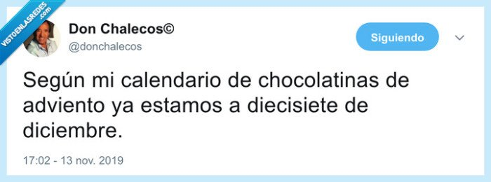 adviento,chocolatinas,comer,navidad