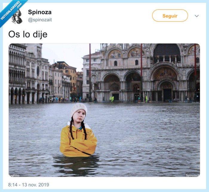 greta thunberg,inundación,venecia