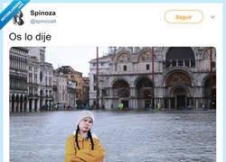 Enlace a Greta ya avisó que pasaría lo de Venecia, por @spinozait