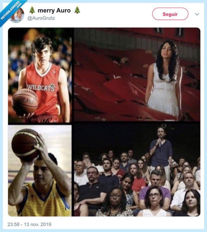 fans,high school musical,pablo iglesias,pedro sánchez