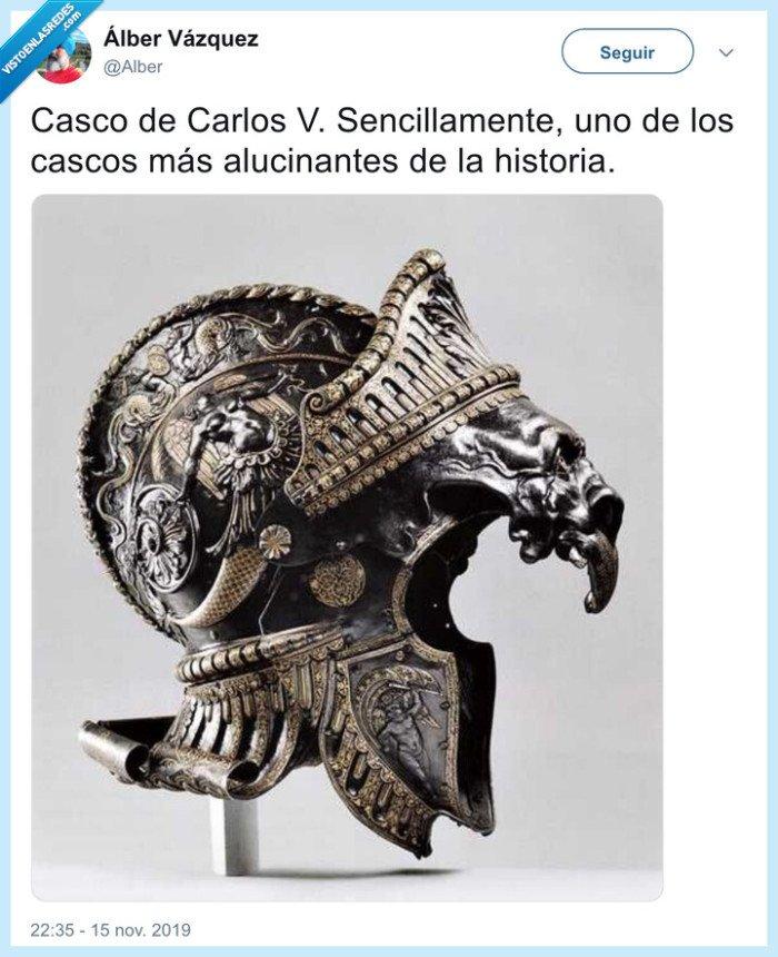 carlos V,casco,detalles,impresionante
