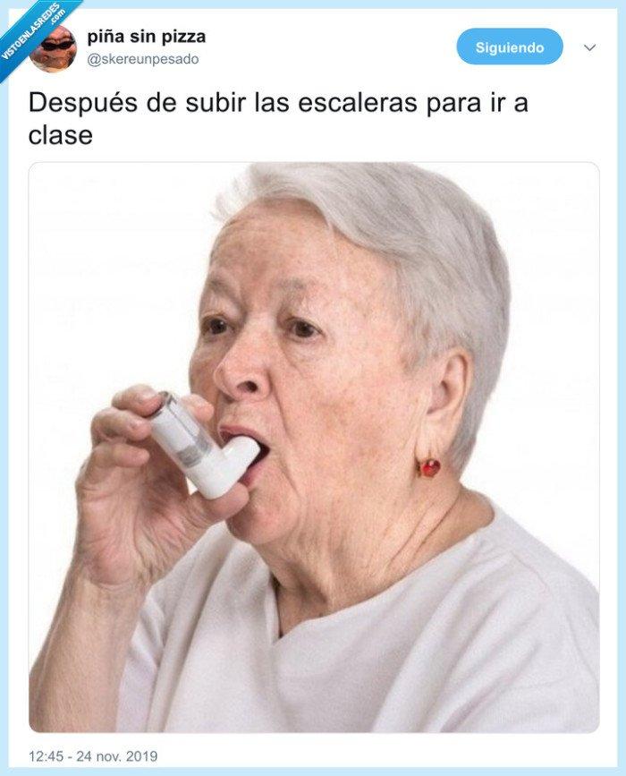 aliento,asma,clase,escaleras